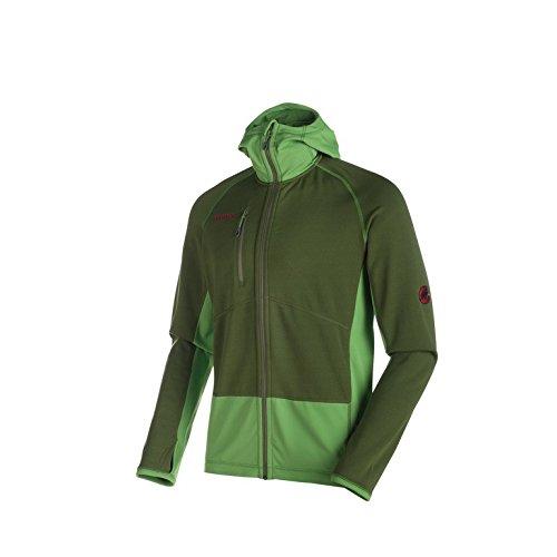 Mammut aconcagua veste polaire pour homme à capuche pro mL seaweed/sherwood