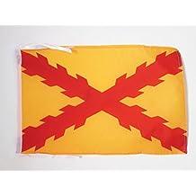 BANDERA de ESPAÑA TERCIOS MORADOS VIEJOS 45x30cm - BANDERINA EJERCITO ESPAÑOL 30 x 45 cm cordeles - AZ FLAG