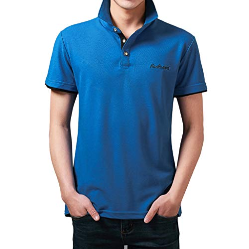VWsiouev Herren Polo Shirts Lässige Kurzarm Golf Shirts Dry Fit Athletic T-Shirt Umlegekragen Knopfoberteil