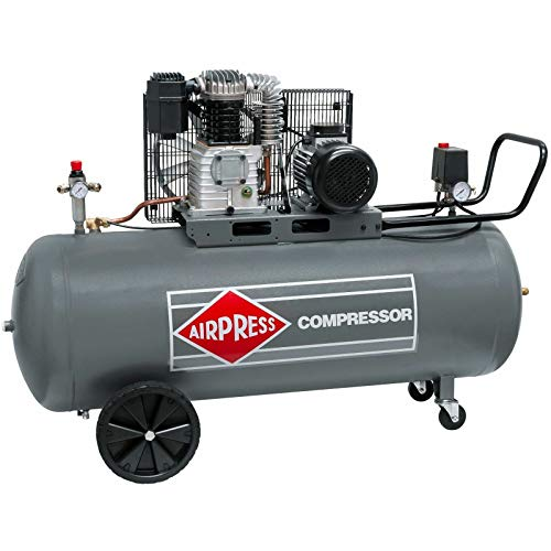AirPress® ölgeschmierter Compresseur d'air HK 425-200 (, 10 bar, 200L Bouilloire 2,2 kW, 400 V) Grand Piston de compresseur