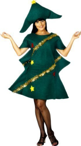 ren Unisex Neuheit Weihnachtsbaum Weihnachten festlich Kostüm Kleid Outfit (Weihnachtsbaum Kostüm Kleid)