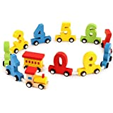 Lakshya Boy's and Girl's Wooden Digital Train Blocks Toy Set