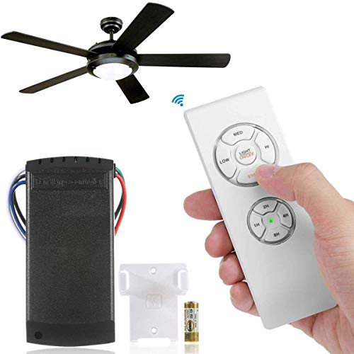 E-CHENG Universal Ceiling Fan and Lights Wireless Remote Control Kit,Scope of Application [Home/Restaurant/Office/Hotel/The Club/Display Hall/Garage]