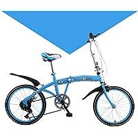 LETFF Bicicleta Plegable para Adultos 20 Pulgadas para Hombres y Mujeres de Velocidad Bicicleta(Blue