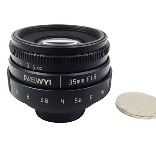 Objektive für Systemkameras, Mini Lens Action Kamera WIFI Sports Cam mit Newyi 35mm f/1.6 CCTV Hauben Adapter für Canon EOS Mount Spiegel Kamera Unterwasserkamera Helmkamera Digital kamera Zubehör