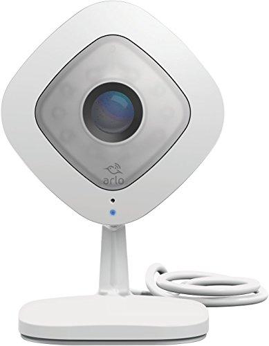 Arlo Q VMC3040 -  Cámara de seguridad y vigilancia IP (1080P HD, visión diurna/nocturna y audio, cámara adicional), blanco