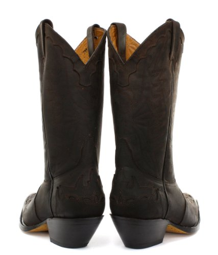 Grinders Arizona Homme Cowboy bottes, Marron Crazy Horse Dark Brown