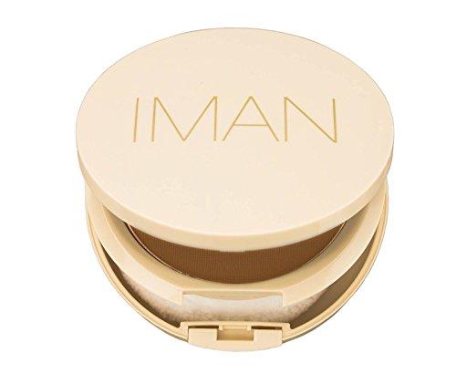 Iman Cosmetics Poudre Compacte Sébo-Absorbante Deep