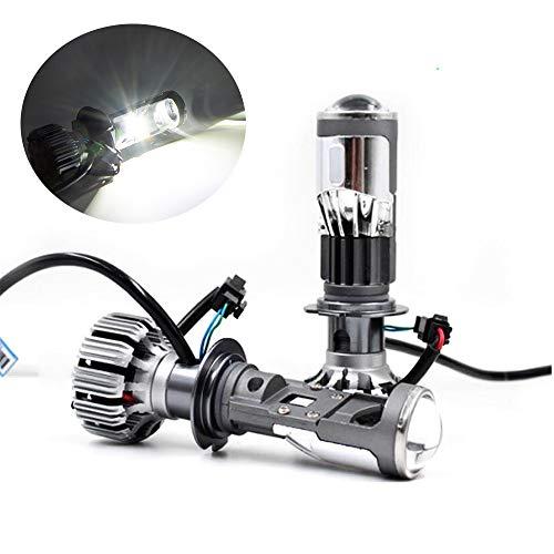 ALOPEE - Extrem Helle Scheinwerferlampen Hoch Niedrig Einstellbarer Strahl 8000LM, 45 W High Power 5500K Weiß G7-Serie mit MINI-Projektorobjektiv