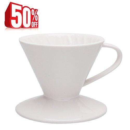 Kaffeefilter, Kaffeefilterhalter, Porzellan,Größe 2,Weiß,von Sweese thumbnail