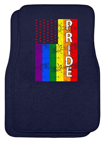 SPIRITSHIRTSHOP Cooles Regenbogen Gay Pride Homo Rainbow Schwul Lesbisch Lesben Party Sexualtität Design - Automatten -Einheitsgröße-Dunkel-Blau -