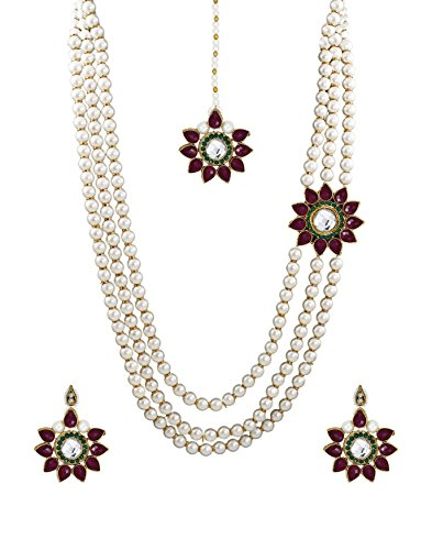 Zaveri Pearls Designer Necklace Set For Women - ZPFK675