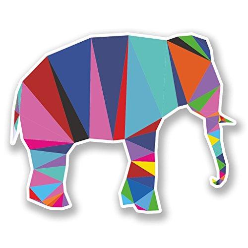 Preisvergleich Produktbild 2 x 10cm / 100mm Cool Elephant Vinyl SELBSTKLEBENDE STICKER Aufkleber Laptop reisen Gepäckwagen iPad Zeichen Spaß 6783