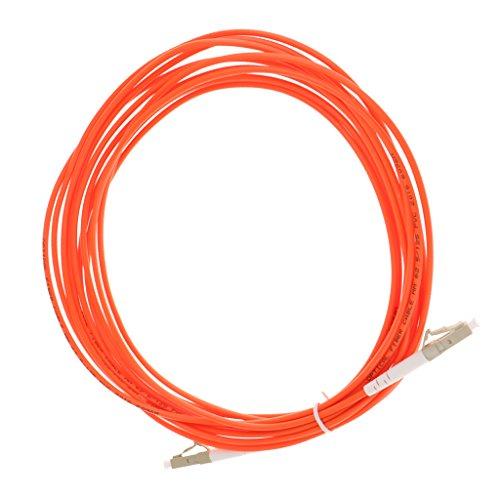Almencla 10 / 16ft LC LC Multimode Single Core Fiber Optic Patch Kabel Jumper Draht - Orange 5 M -