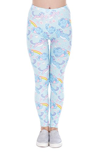 Legging Modell Unicorn Clouds Einhorn