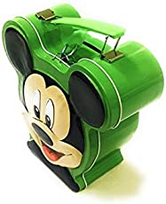 Glorygifts Mickey Mouse Metal Money Bank with Lock & Handle Coin Bank