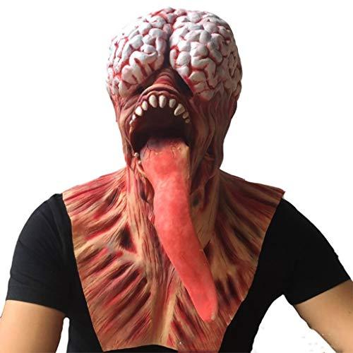 Disney Paar Einfach Kostüm - DZZLXY Halloween Horror Latex Maske, Long Tongue Devil Mask Latex Halloween Kostüm Rubber Biochemical Monster, Party Witze Spielzeug für Jugendliche,M