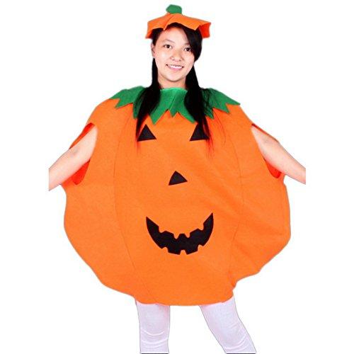 stüm Erwachsene/Kind Halloween Allerheiligen Kostüm Kürbis Kostüm-Set Party Wear Unisex mit Hut (Halloween-kürbis-kostüme Für Kinder)