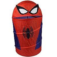 3D Spiderman Boys Pop-Up Storage Bin Kids Bedroom Foldable Laundry Basket