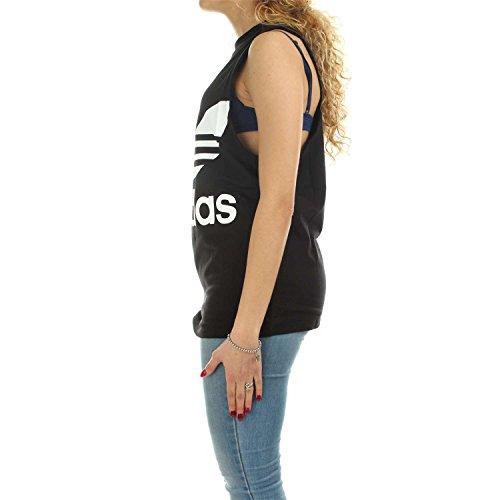 adidas Damen Tanktop Trefoil Schwarz (Black)
