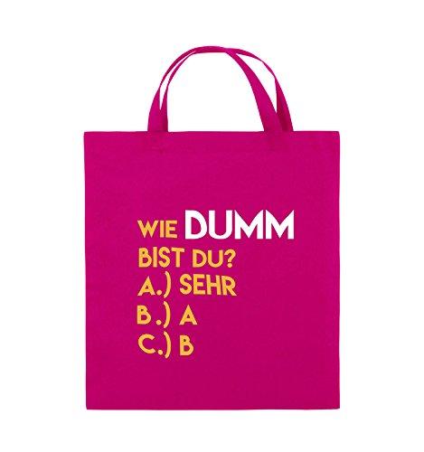 Pink Gelb bist Comedy du dumm Weiss 38x42cm Violet Farbe Navy kurze Bags Fuchsia Jutebeutel Wie Henkel xTqq6tO
