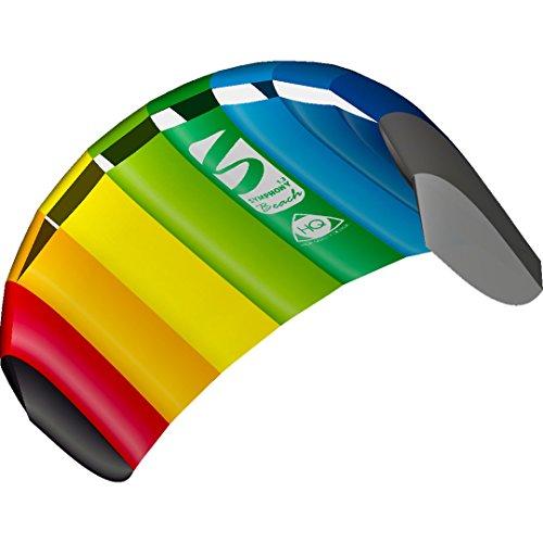 HQ 11768050 - Symphony Beach III 1.8 Rainbow, Zweileiner Lenkmatten, ab 8 Jahren, 55x130cm, inkl. 45 kp Polyesterschnüre 2x25m auf Winder mit Schlaufen, 2-6 Beaufort