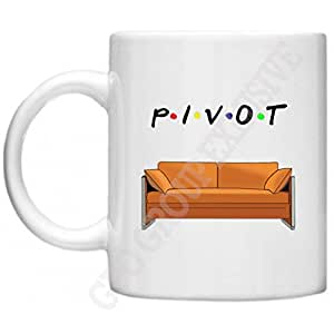 """Friends Mug humoristique avec inscription """"Friends CANAPÉ CANAPÉ Pivot, tasse, GPO groupe Exclsuive Motif amis Pivot DE Mug"""" Friends Series, cadeaux, micro-ondes et au lave-vaisselle-Mug - 312 ml"""
