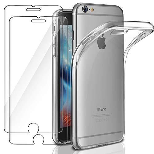 Leathlux Funda + 2X Cristal para iPhone 6 / 6s