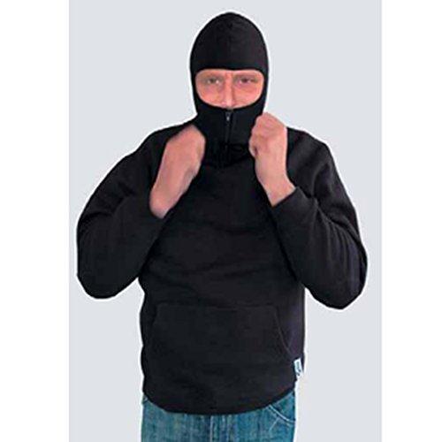 CI Ninja Hoodie Sweatshirt mit Kapuze Einsatzpullover SWAT Kapuzenpulli mit Sturmhaube Schwarz Größe S-XXL ()