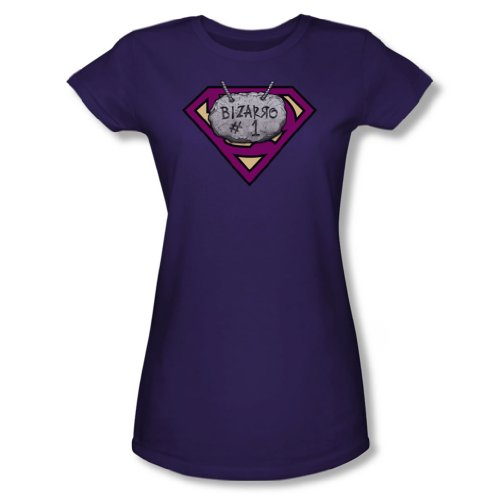 Superman - Frauen Bizzaro # 1 Rock T-Shirt in Lila, XX-Large, Purple