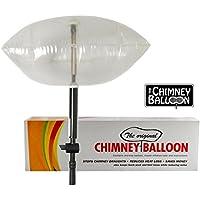 Chimney Balloon - Kit pallone per camini di piccole dimensioni, fino a 38 x 23 cm, tubo gratuito incluso
