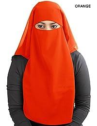 MyBatua 3 capas saudi niqab en georgette transpirable, precio al por mayor, 1 pieza