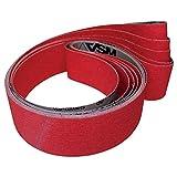 VSM 732514 Bande Abrasif Céramique Grains 120 pour titane Rouge, 50 x 2000 mm