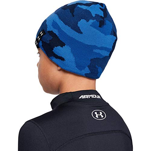 Under Armour Billboard Reversible Beanie, Academy (408)/White, One Size Fits All -