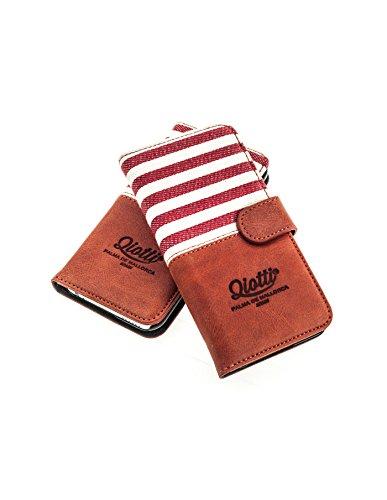 Black Magic Wallet (QIOTTI > SAMSUNG GALAXY A5 (2015) < incl. PANZERGLAS H9 HD+ Booklet Wallet Case Hülle Premium Tasche aus echtem Kalbsleder mit KARTENFÄCHER. SMART LINE KOLLEKTION (ROT))
