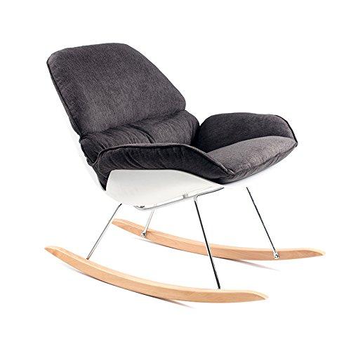 Folding chair LVZAIXI Silla Mecedora de Ocio Silla de Comedor Retro de