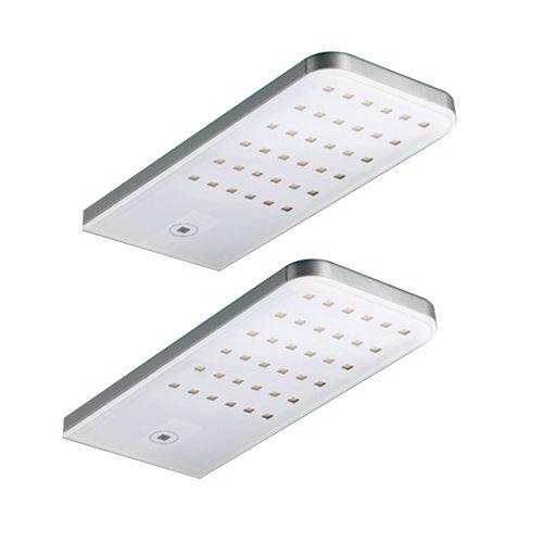 Flip LED 2er SET mit LED Touch Schalter und Dimmer / weiss / Unterbauleuchte / Lumica / 4000 K warmweiss / 706196
