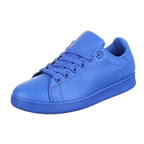 Italiana De Design Lo Top Laços Sapatas Das Senhoras Calçados Casuais Das Sapatilhas Azul