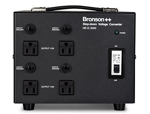 Bronson++ HE-D 3000 - 110 Volt Spannungswandler / Transformator - 3000 Watt - In: EURO 220 - 240 Volt / Out: USA 110 Volt - Ringkerntransformator 3000W - Bronson (110v Transformator)
