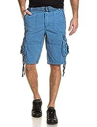 Deeluxe 74 - Bermuda homme bleu cargo