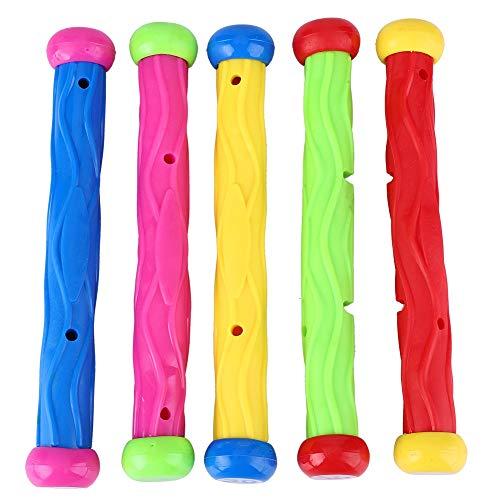 Alomejor 5 Stücke Kinder Pool Tauchen Ausbildung Spielzeug Unterwasser Schwimmen Spaß Tauchen Stick Spielzeug (Kinder-pool-stick)