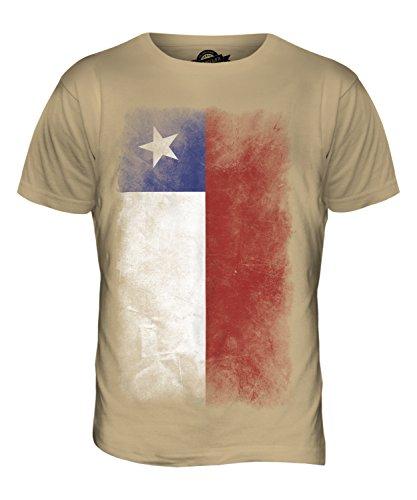 CandyMix Chile Verblichen Flagge Herren T Shirt Sand