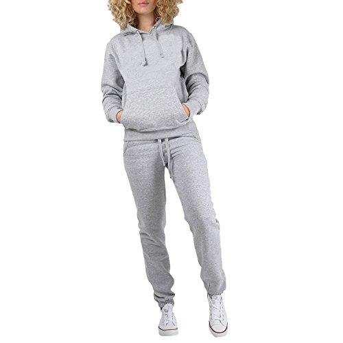 Janisramone -  Tuta da ginnastica  - Basic - Maniche lunghe  - Donna Grey