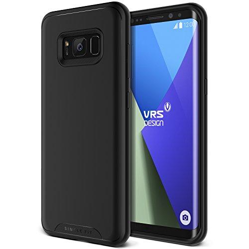 Galaxy S8 Plus Hülle, VRS Design® Schutzhülle [Schwarz] Schlagfesten Stoßstangen TPU Case Kratzfeste Schlanke Rutschfeste Handyhülle [Single Fit] für Samsung Galaxy S8 Plus 2017