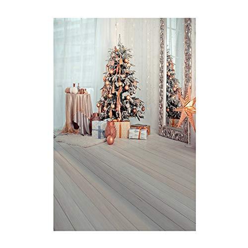 ODJOY FAN Weihnachten 3D Ornament, Hintergründe Baum Dekoration Photography  Background Vinyl Hintergrund Tuch Kamin