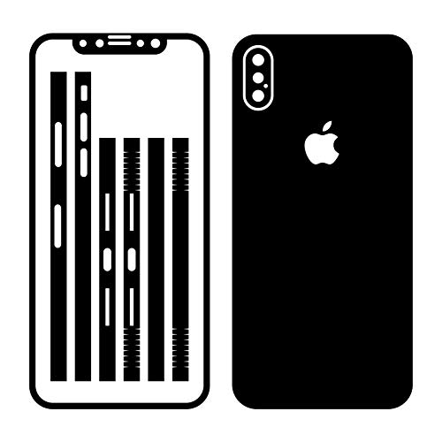 Leuchtkäfer Werbetechnik iPhone X SCHWARZ MATT Folie Skin ZUM AUFKLEBEN Bumper case Cover schutzhülle i Phone
