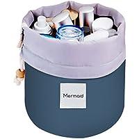 Mermaid Viaje Bolsas de aseo con el lazo de la bolsa bolsa de almacenamiento Organizador de maquillaje del bolso Bolsa de Cosmética Bolsa de Lavado (azul)