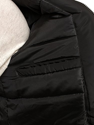 CRAVOG Herren Jacken Winterjacke Outerwear Stil 2 Schwarz