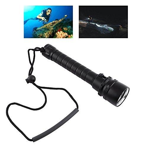 Tauchen Taschenlampe Ultra Hell Scuba Tauchlampe 8000LM LED Unterwasserlicht Lampe