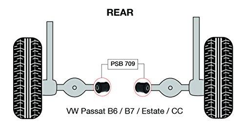 PSB polyuréthane Bush Passat B6/B7/Break/CC (05-42) arrière Strut Bras de montage Intérieur bushing kit - Psb709